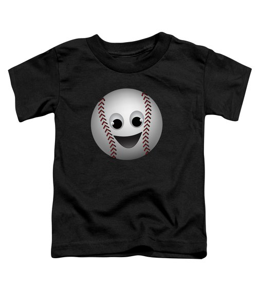 Fun Baseball Character Toddler T-Shirt