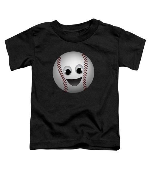 Fun Baseball Character Toddler T-Shirt