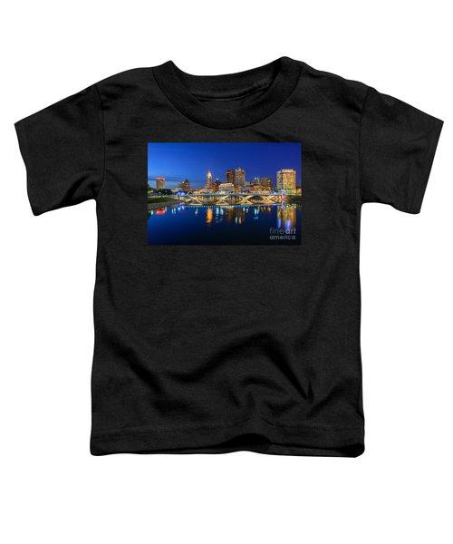 Fx2l531 Columbus Ohio Skyline Photo Toddler T-Shirt
