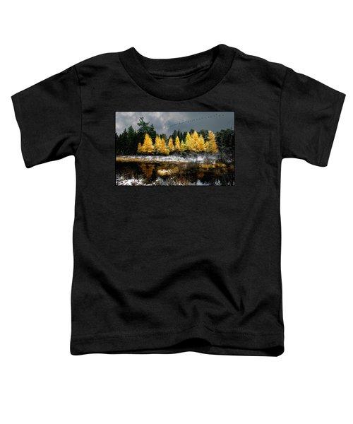 Geese Over Tamarack Toddler T-Shirt