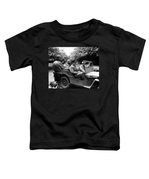 General Eisenhower In A Jeep Toddler T-Shirt