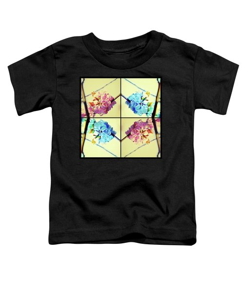 Geometric Cherry Blossoms Toddler T-Shirt