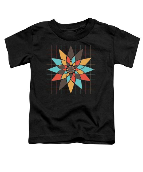 Geometric Flower Toddler T-Shirt