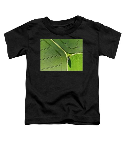 Geometric Landscape 05 Tree And Green Fields Aerial View Toddler T-Shirt