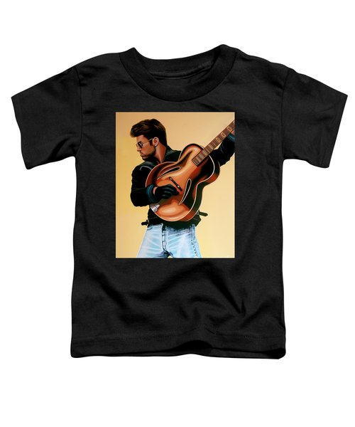 George Michael Painting Toddler T-Shirt by Paul Meijering