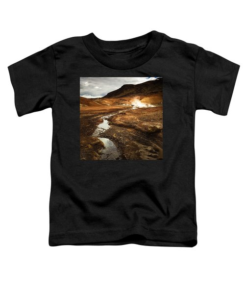 Geothermal Area Krysuvik In Iceland Toddler T-Shirt