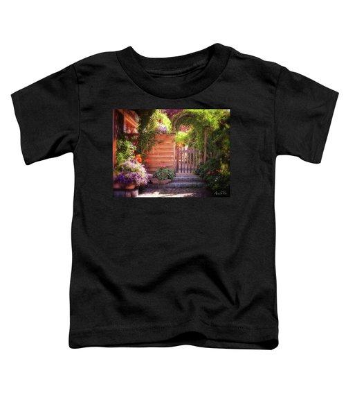 Toddler T-Shirt featuring the photograph German Garden by Andrea Platt