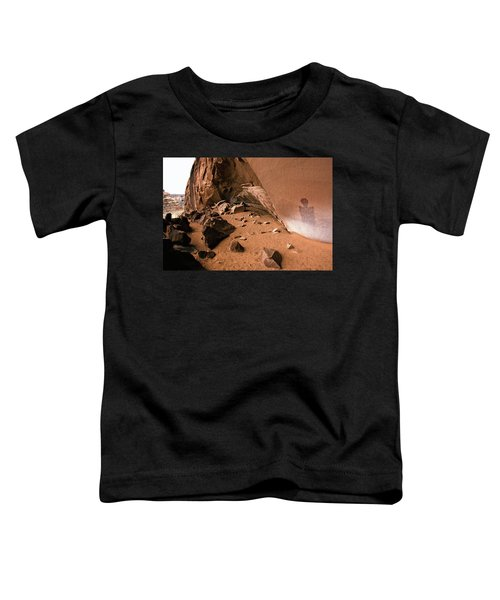 Toddler T-Shirt featuring the photograph Ghostly Pictograph by Whit Richardson
