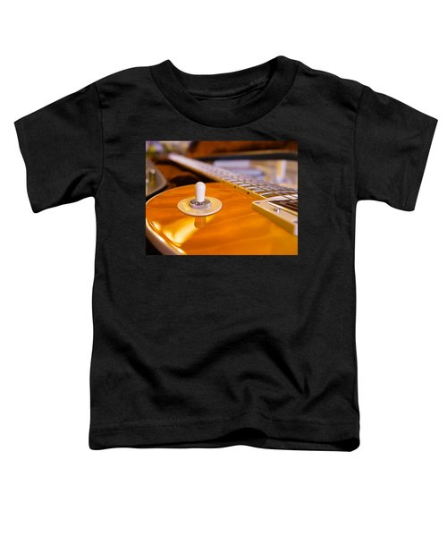 Yellow Quilt Guitar Top Toddler T-Shirt