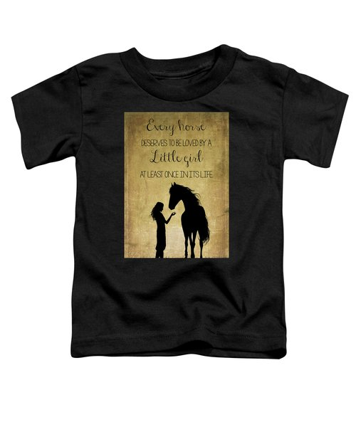 Girl And Horse Silhouette Toddler T-Shirt