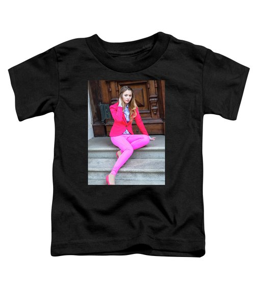 Girl Dressing In Pink Toddler T-Shirt