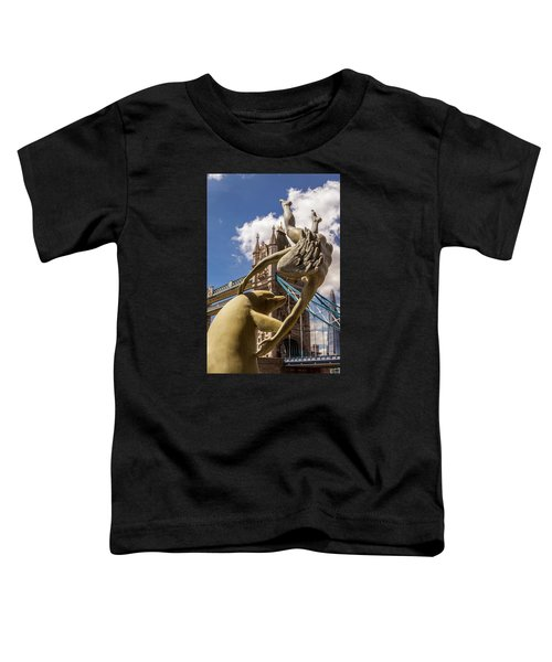 Girl With A Dolphin Fountain Toddler T-Shirt