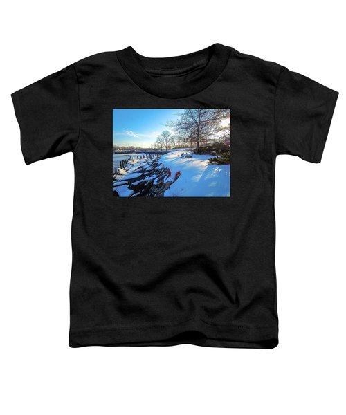 Glen Island Snowfall Toddler T-Shirt