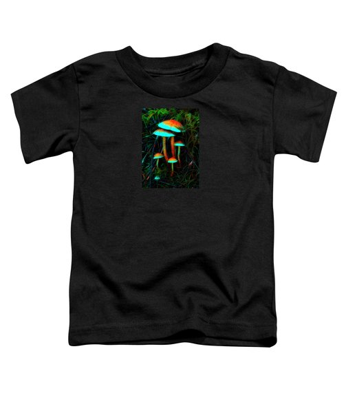 Toddler T-Shirt featuring the photograph Glowing Mushrooms by Yulia Kazansky