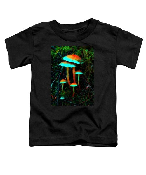Glowing Mushrooms Toddler T-Shirt