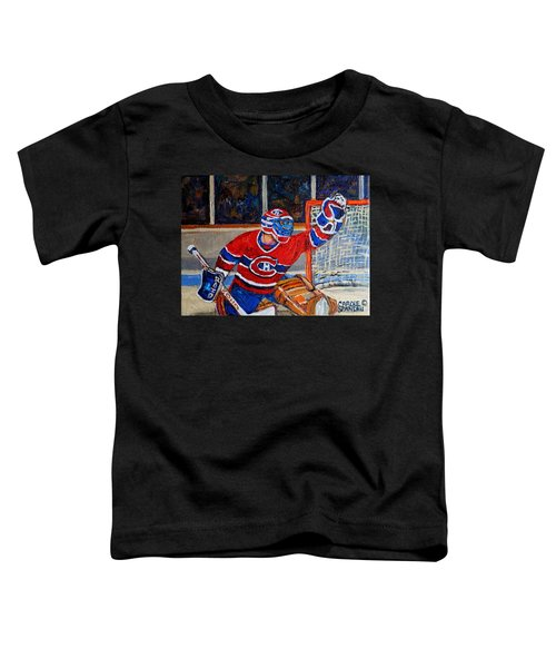Goalie Makes The Save Stanley Cup Playoffs Toddler T-Shirt