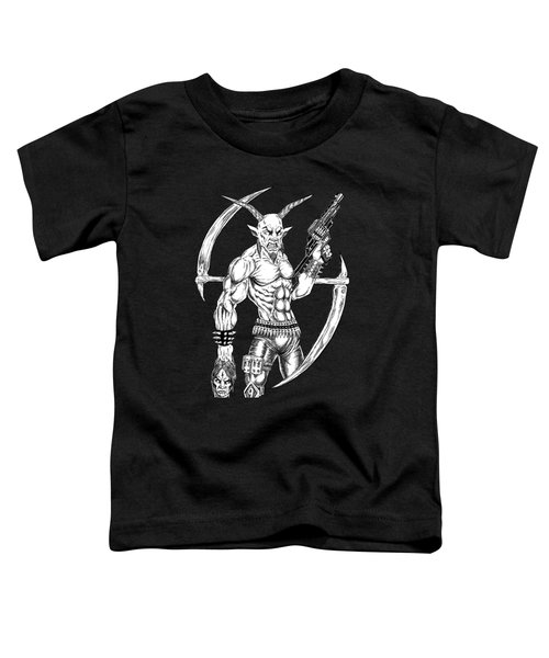 Goatlord Reaper Toddler T-Shirt by Alaric Barca