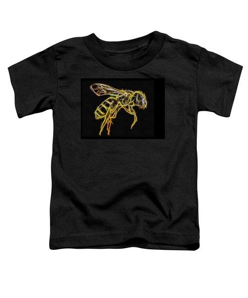 Golden Honey Bee Fractalized Toddler T-Shirt