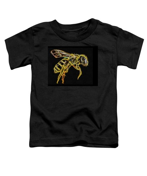 Golden Honey Bee Fractalized Toddler T-Shirt
