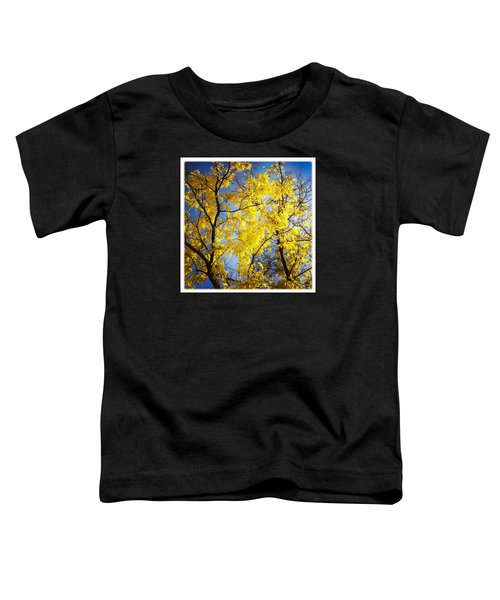 Golden October Tree In Fall Toddler T-Shirt