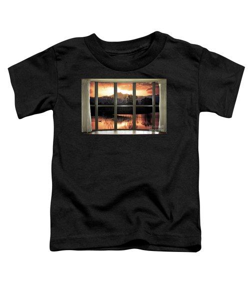 Golden Ponds Bay Window View Toddler T-Shirt