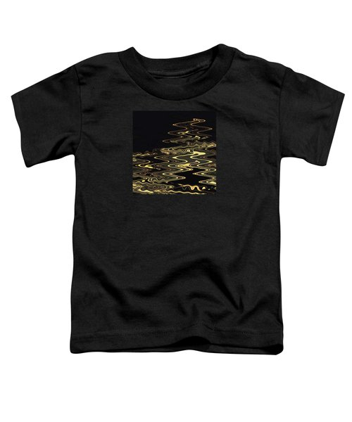 Golden Shimmers On A Dark Sea Toddler T-Shirt