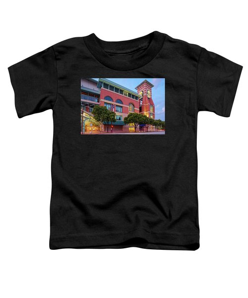 Golden Sunset Glow On The Facade Of Minute Maid Park - Downtown Houston Harris County Texas Toddler T-Shirt