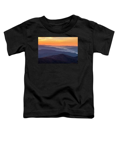Good Morning Clingmans Dome In The Smokies Toddler T-Shirt