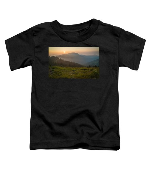 Goodnight Mountains Toddler T-Shirt by Kristopher Schoenleber