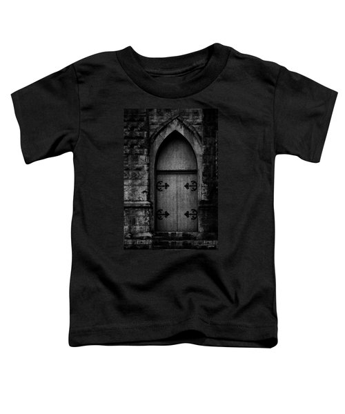Gothic Door Memphis Church Bw Toddler T-Shirt