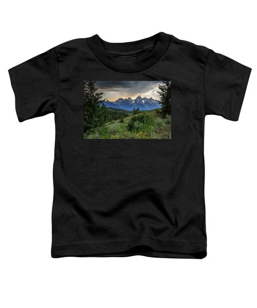 Toddler T-Shirt featuring the photograph Grand Stormy Sunset by David Chandler