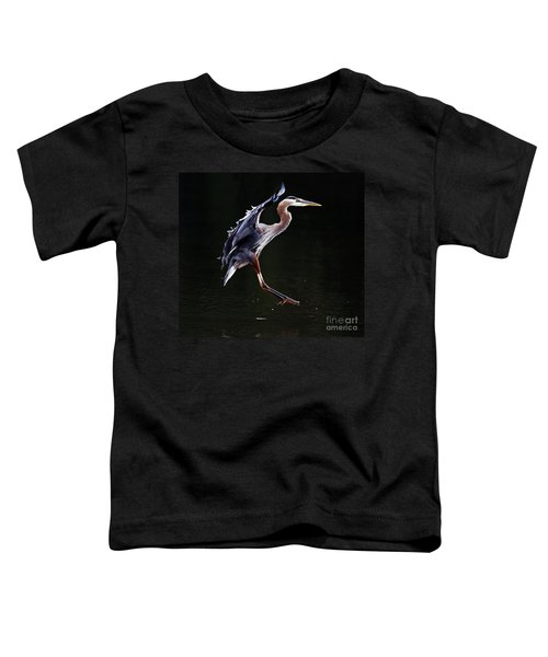 Great Blue Heron On The Wing Toddler T-Shirt