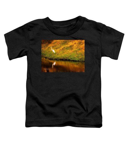 Great Egret At The Lake Toddler T-Shirt