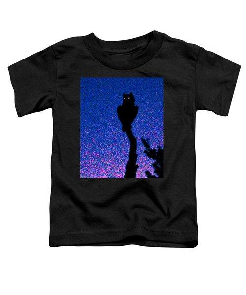 Great Horned Owl In The Desert Toddler T-Shirt