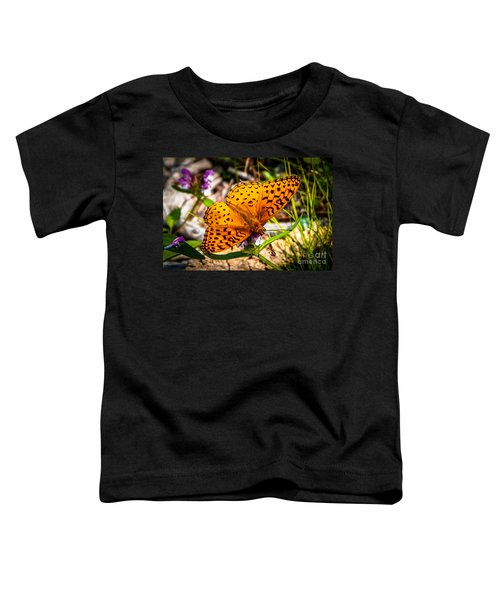 Great Spangled Fritillary Butterfly Toddler T-Shirt