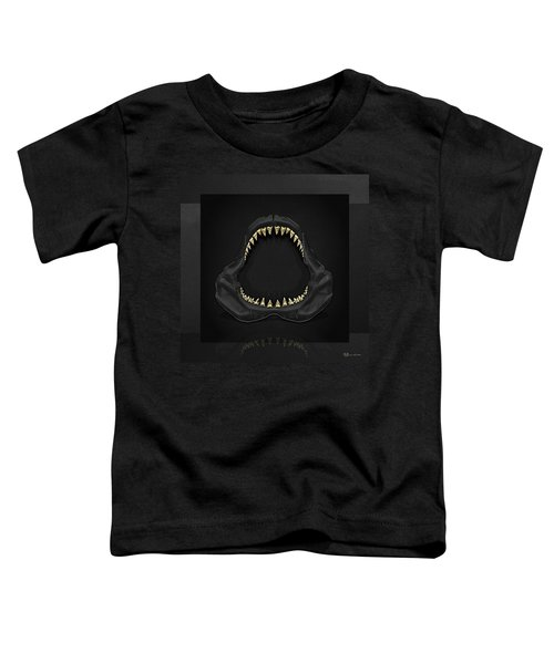 Great White Shark Jaws With Gold Teeth  Toddler T-Shirt