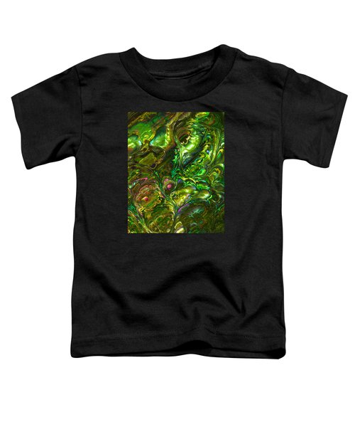 Green Abalone Abstract Toddler T-Shirt