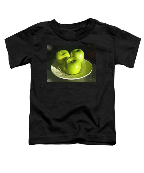 Green Apples In A White Bowl Toddler T-Shirt