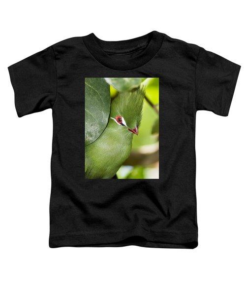 Green Turaco Bird Portrait Toddler T-Shirt