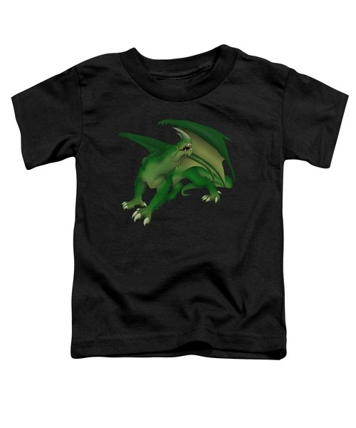 Green Dragon Toddler T-Shirt by Gaynore Craps