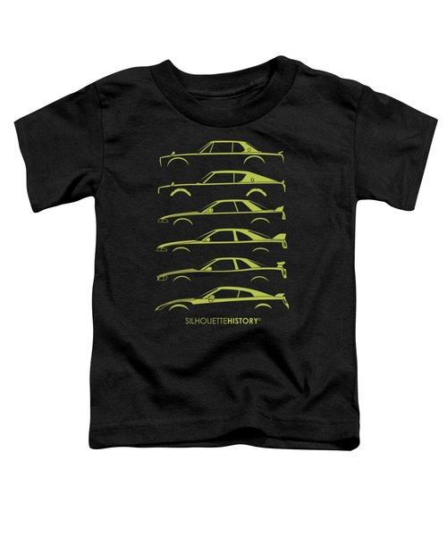 Green Geeteearu Silhouettehistory Toddler T-Shirt