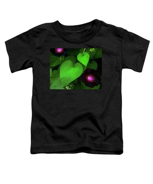 Green Leaf Violet Glow Toddler T-Shirt