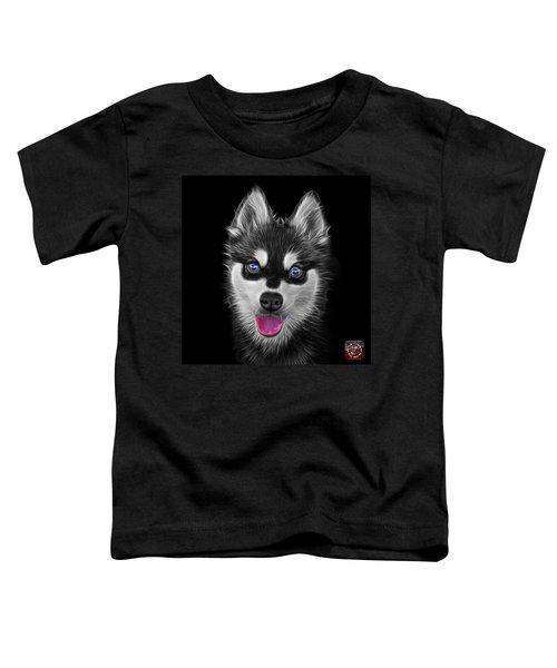 Greyscale Alaskan Klee Kai - 6029 -bb Toddler T-Shirt