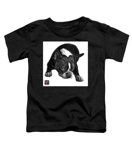 Greyscale Boston Terrier Art - 8384 - Wb Toddler T-Shirt