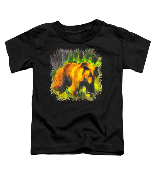 Grizzly In Field Toddler T-Shirt