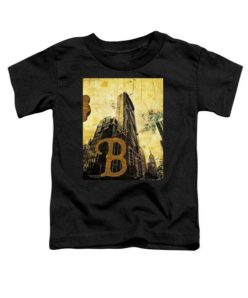 Grungy Melbourne Australia Alphabet Series Letter B Central Busi Toddler T-Shirt