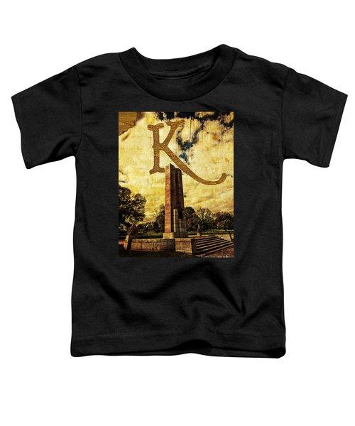 Grungy Melbourne Australia Alphabet Series Letter K Kings Domain Toddler T-Shirt