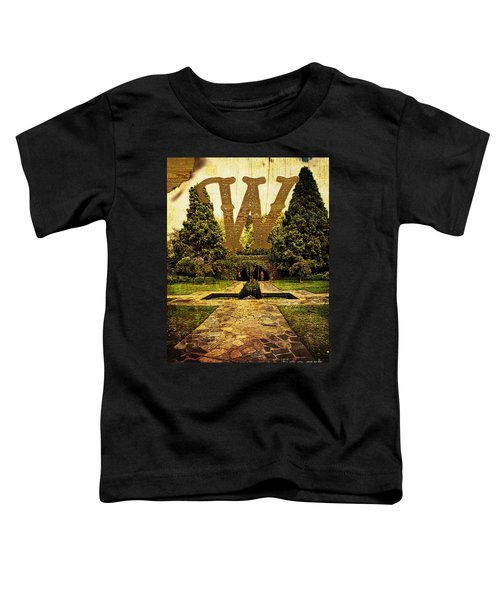 Grungy Melbourne Australia Alphabet Series Letter W Pioneer Wome Toddler T-Shirt