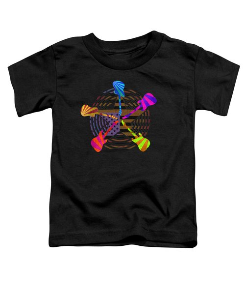 Toddler T-Shirt featuring the digital art Guitars Stars And Stripes  by Guitar Wacky