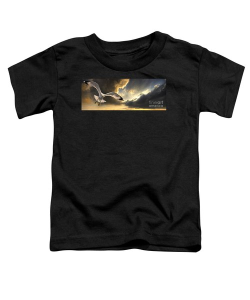 Gull With Approaching Storm Toddler T-Shirt